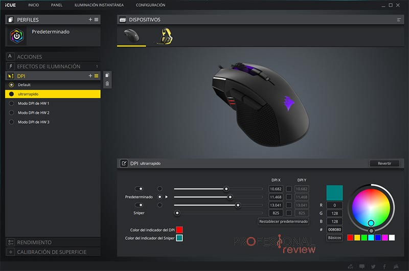 Corsair IRONCLAW RGB software