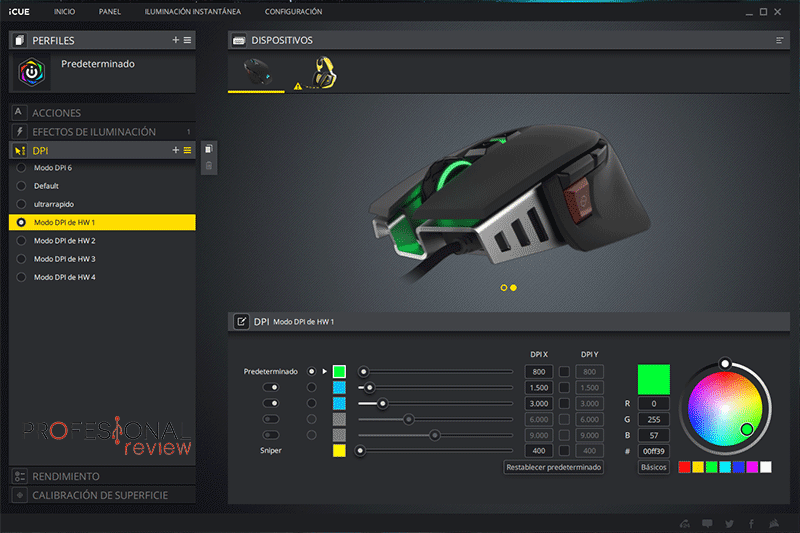 Corsair M65 ELITE Software