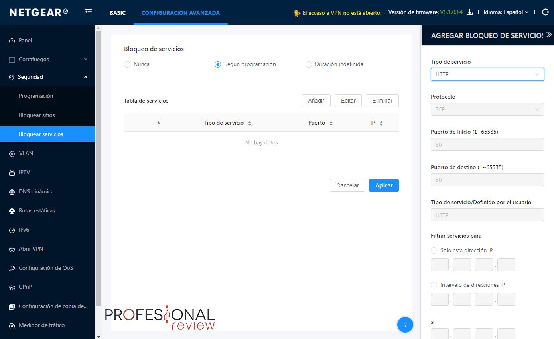 Firewall de NETGEAR BR500 paso 09