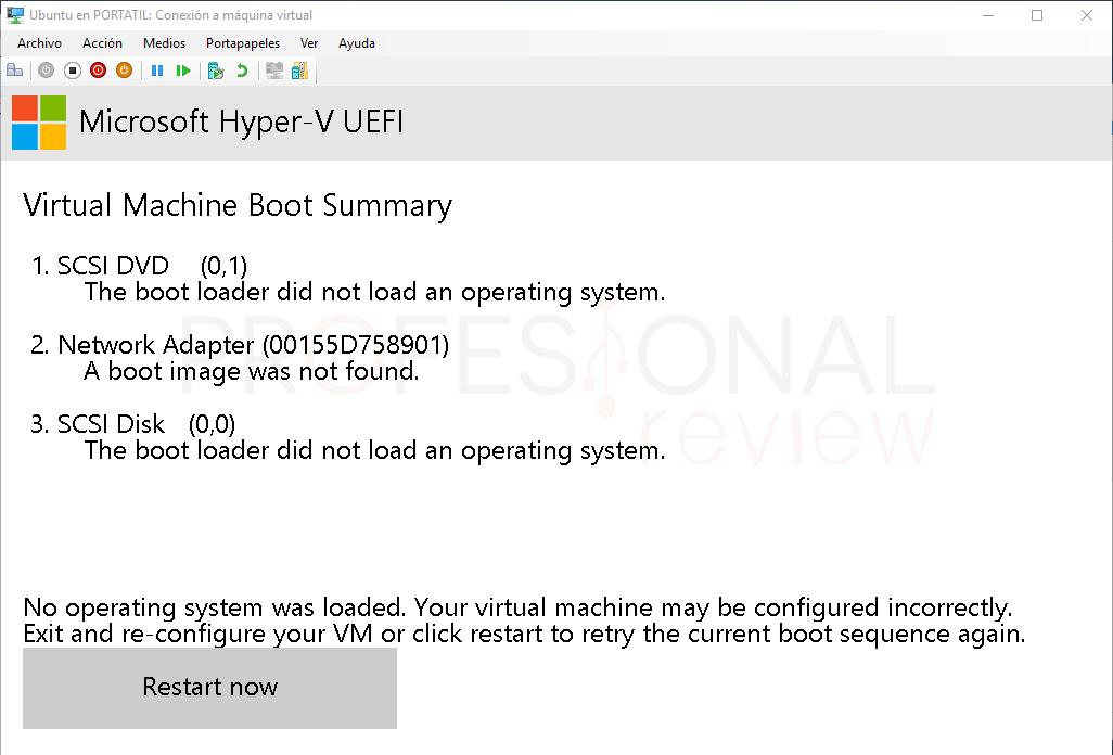Crear máquina virtual en Hyper-V paso 10