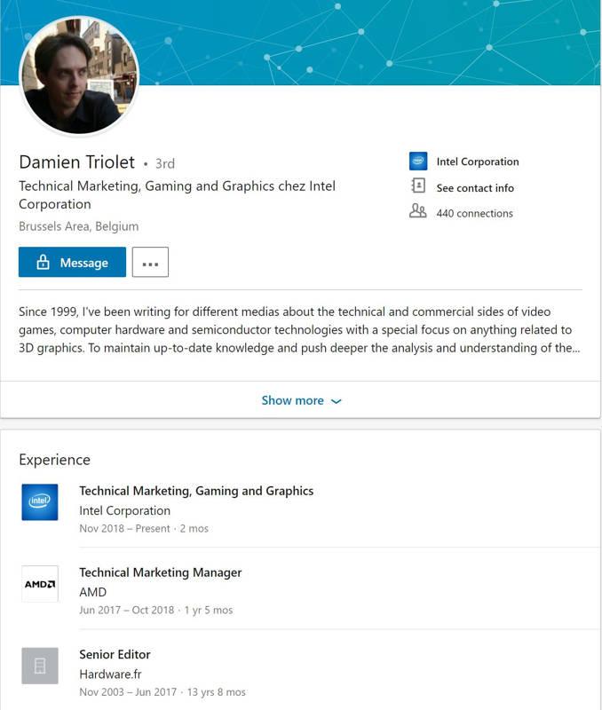 Damien Triolet se une al equipo de Raja Koduri en Intel