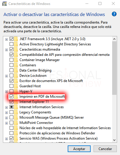 Impresora PDF en Windows 10 paso 02