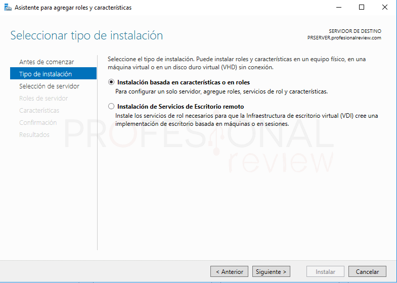 Servicio de enrutamiento en Windows Server 2016 paso 02