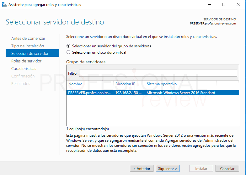 Servicio de enrutamiento en Windows Server 2016 paso 03