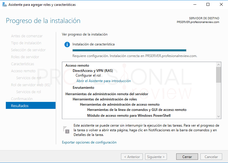 Servicio de enrutamiento en Windows Server 2016 paso 08