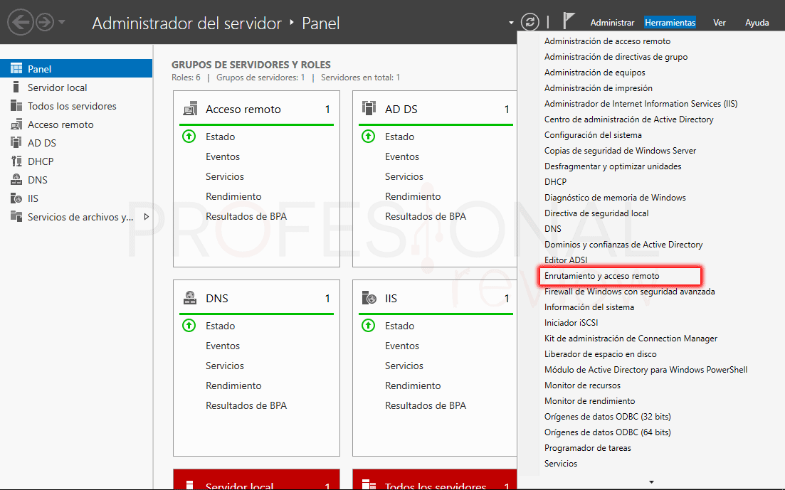 Servicio de enrutamiento en Windows Server 2016 paso 10