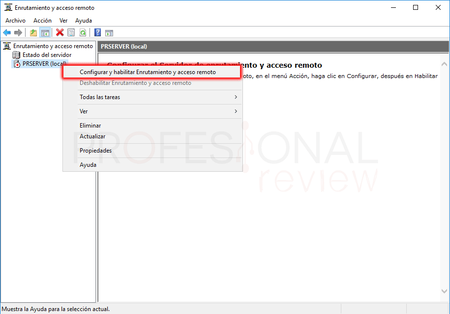 Servicio de enrutamiento en Windows Server 2016 paso 11