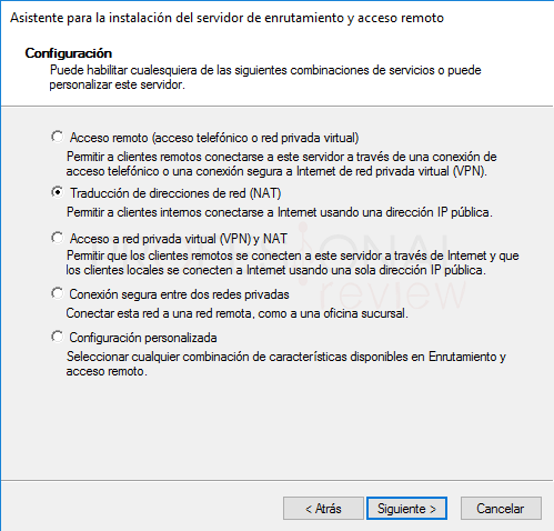Servicio de enrutamiento en Windows Server 2016 paso 12