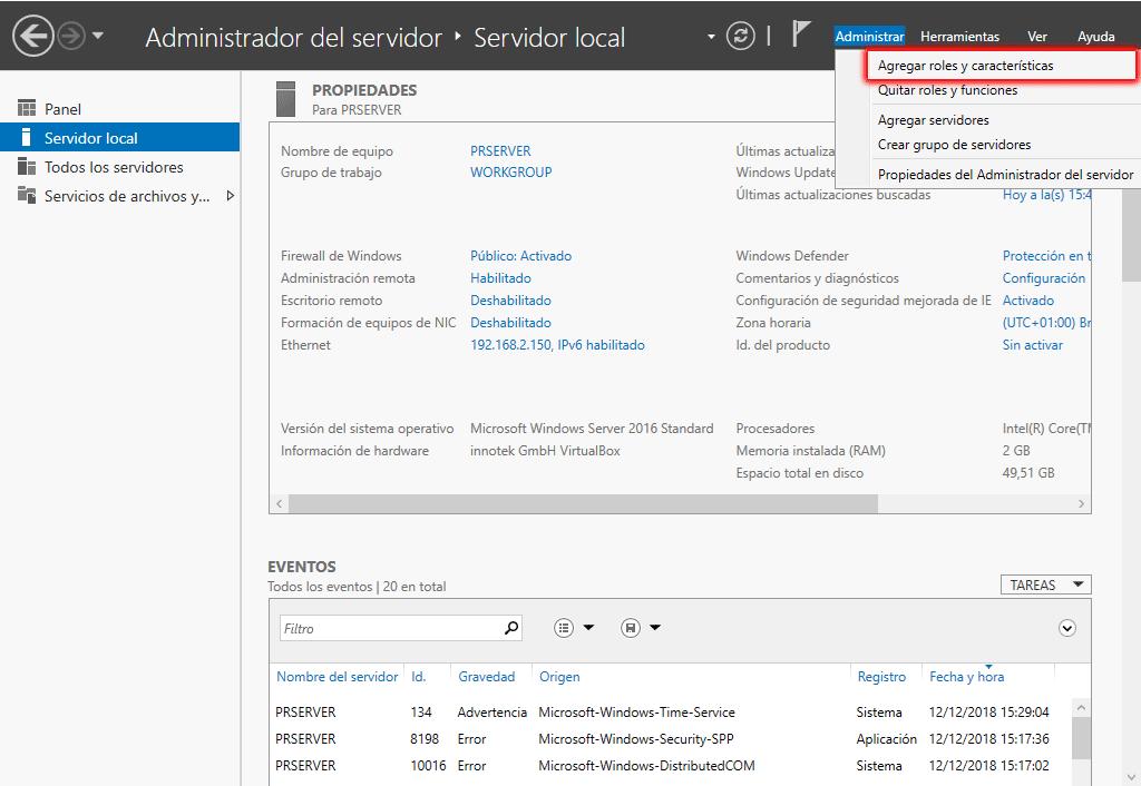 Instalar servidor DHCP en Windows Server 2016 paso 08