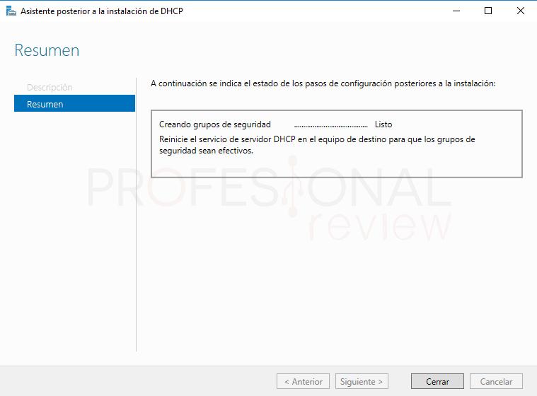 Instalar servidor DHCP en Windows Server 2016 paso 15