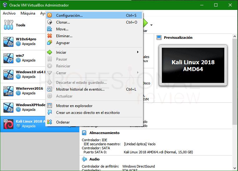 Instalar Kali Linux en VirtualBox paso 03