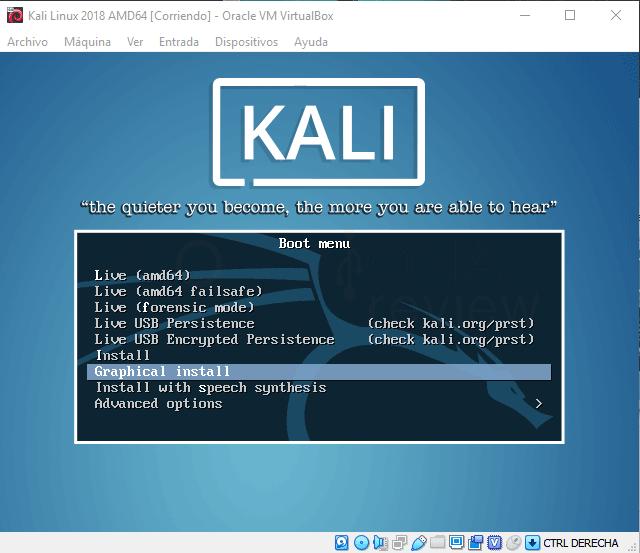 Instalar Kali Linux en VirtualBox paso 08