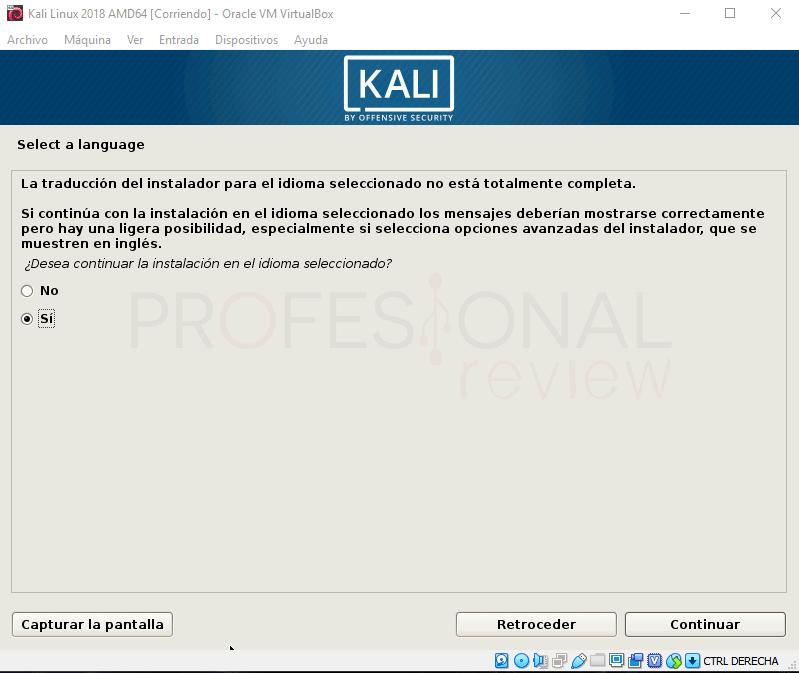 Instalar Kali Linux en VirtualBox paso 09