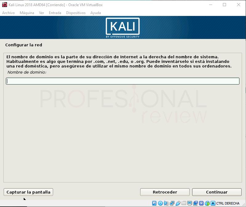 Instalar Kali Linux en VirtualBox paso 11