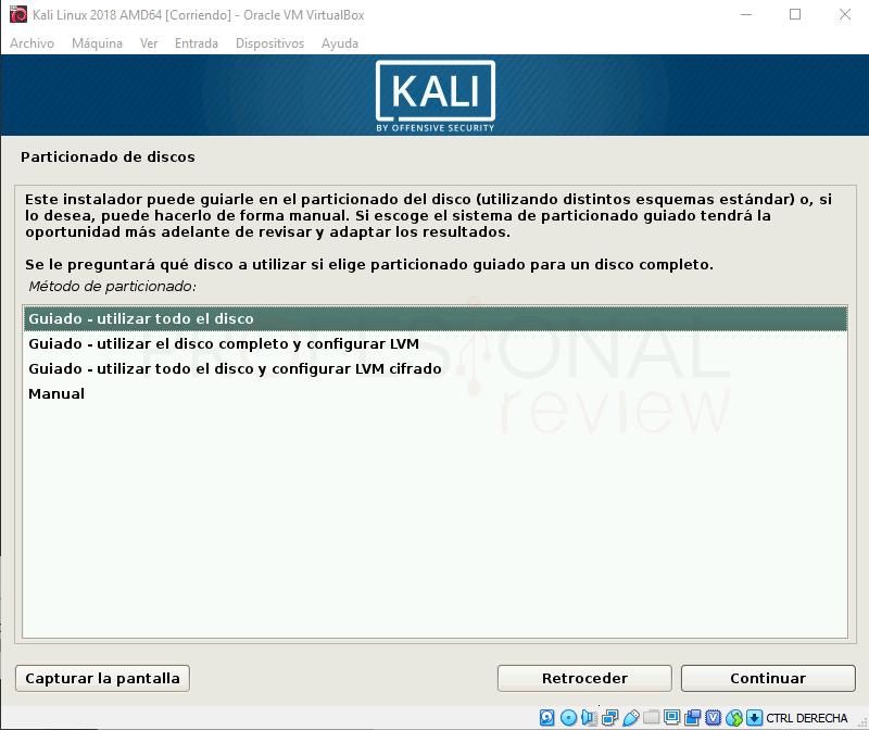 Instalar Kali Linux en VirtualBox paso 13