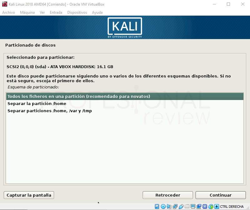 Instalar Kali Linux en VirtualBox paso 14