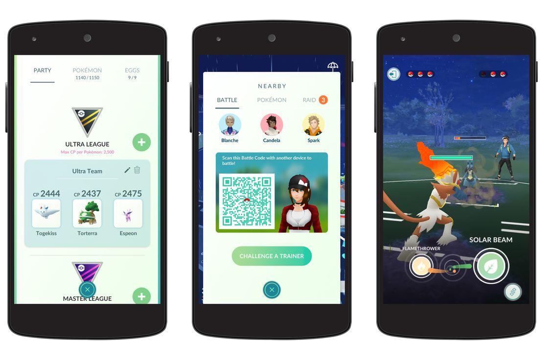 Pokémon GO recibe las Trainer Battles