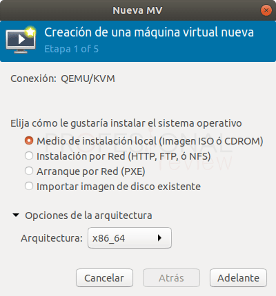 Crear máquina virtual en Qemu paso 02