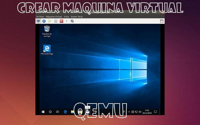 crear máquina virtual en Qemu