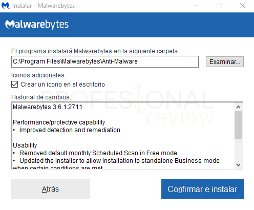 Malwarebytes Windows 10 paso 02