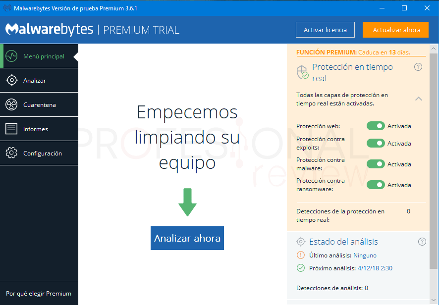 Malwarebytes Windows 10 paso 3