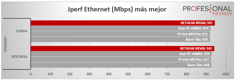 NETGEAR BR500 rendimiento