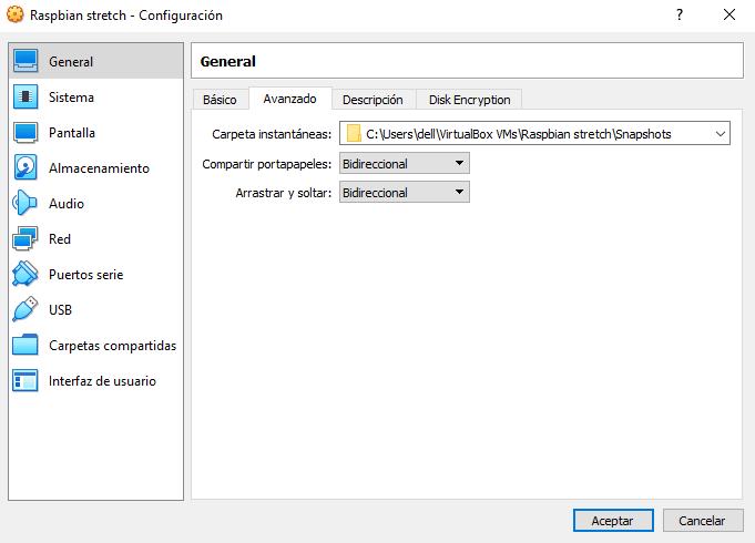 Instalar Raspbian en VirtualBox paso 05