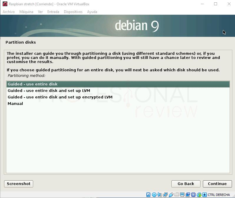 Instalar Raspbian en VirtualBox paso 09