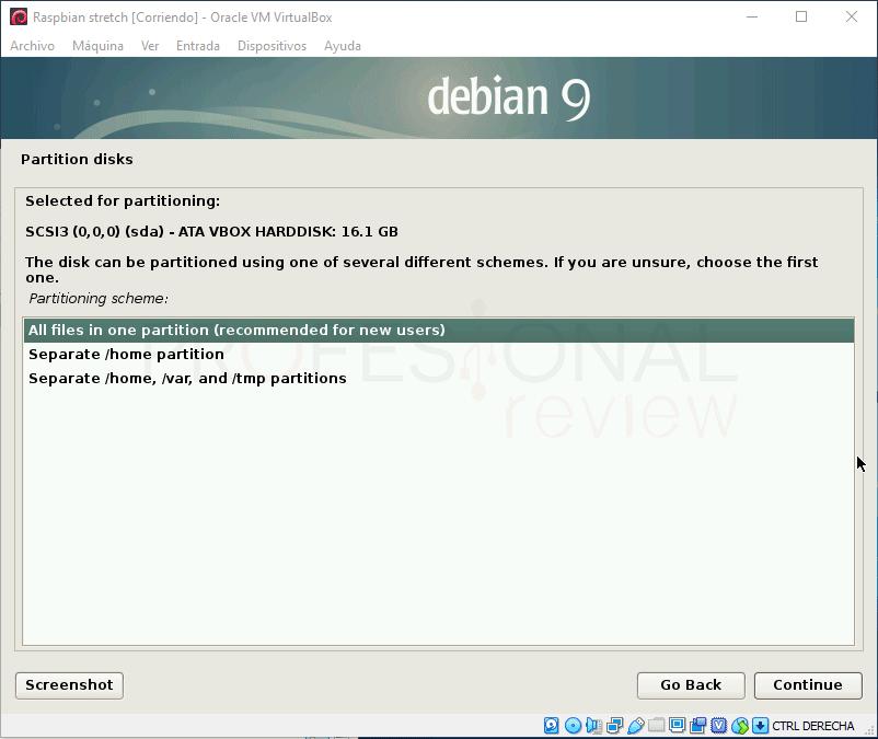 Instalar Raspbian en VirtualBox paso 10
