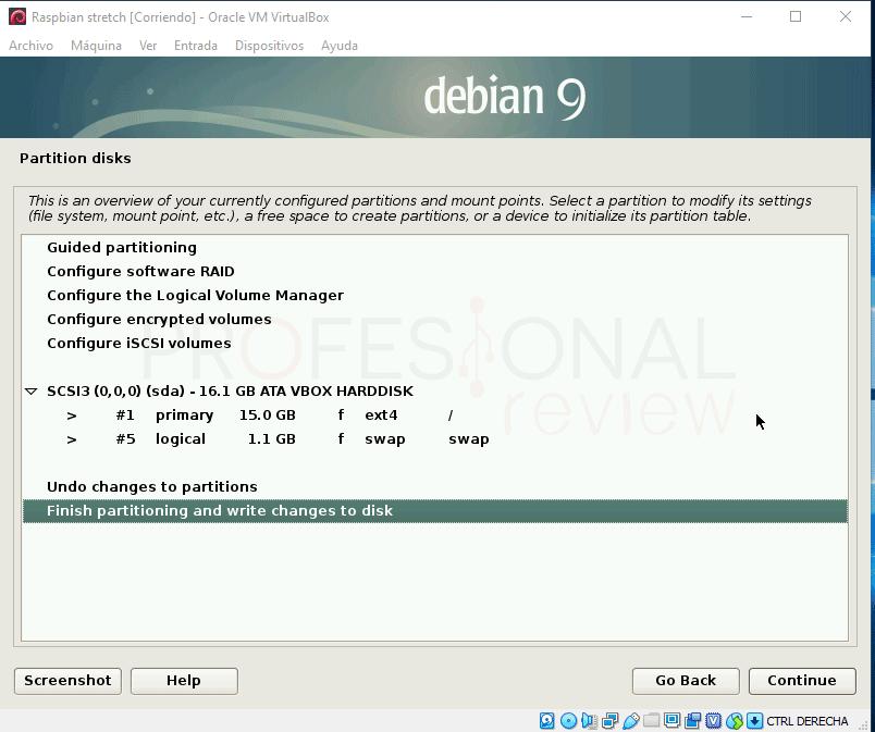 Instalar Raspbian en VirtualBox paso 11