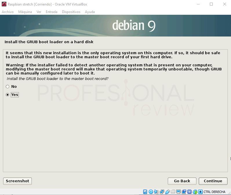 Instalar Raspbian en VirtualBox paso 13