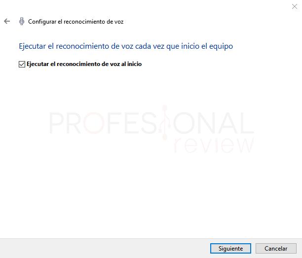 Reconocimiento de voz en Windows 10 paso 07