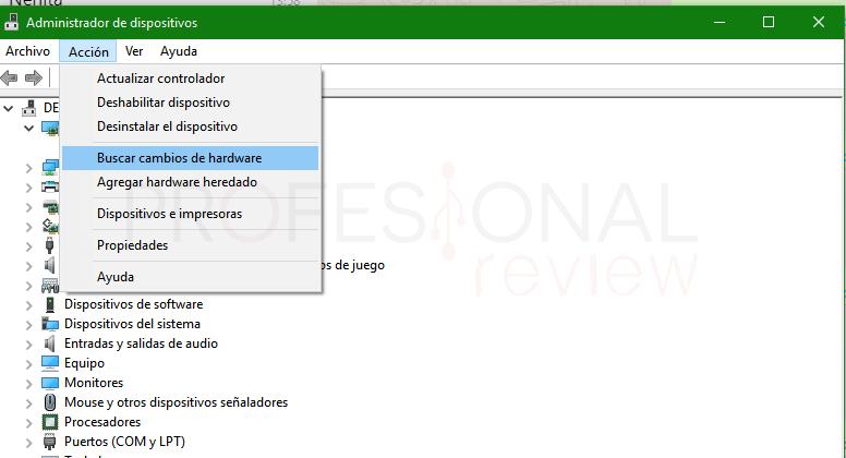 Se ha cambiado la configuración del hardware paso 03