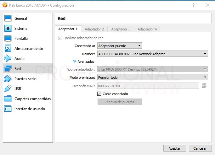 Wi-Fi en Kali Linux VirtualBox paso 10