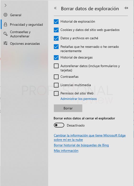Borrar memoria caché del navegador paso 01