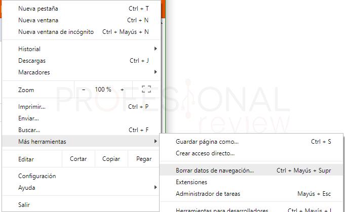 Borrar memoria caché del navegador paso 02