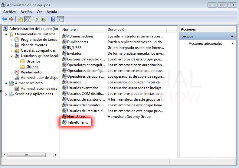 Configurar servidor Telnet en Windows paso 06