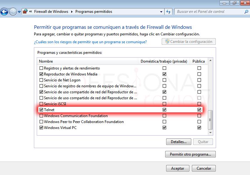 Configurar servidor Telnet en Windows paso 10