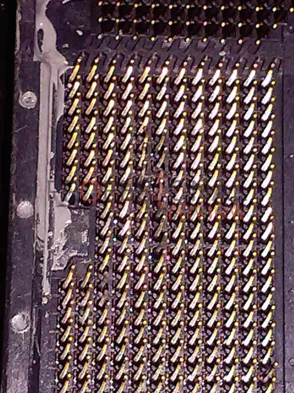 Enderezar pines procesador o placa base paso 07