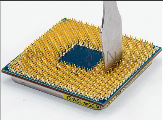 Enderezar pines procesador o placa base paso 05