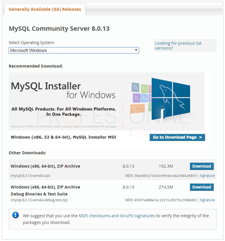 Instalar MySQL en Windows 10 paso 01