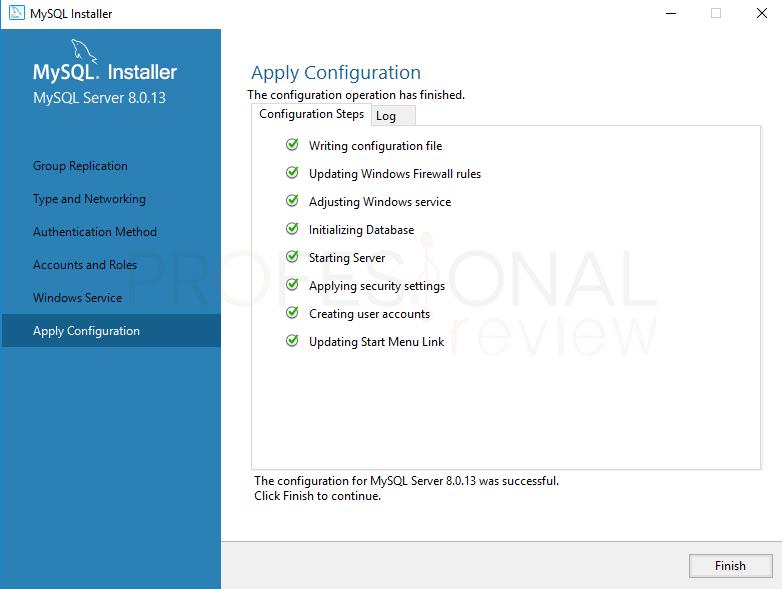 Instalar MySQL en Windows 10 paso 14