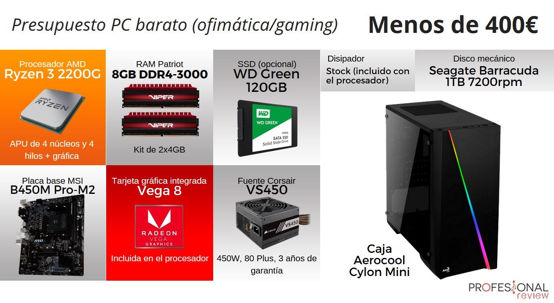 Configuración PC básico GAMING