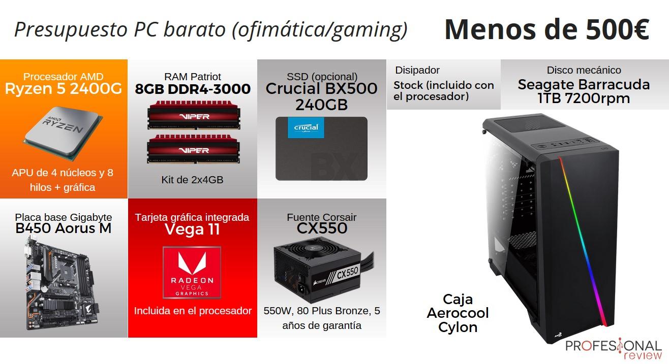 Configuración PC Gaming 500 euros