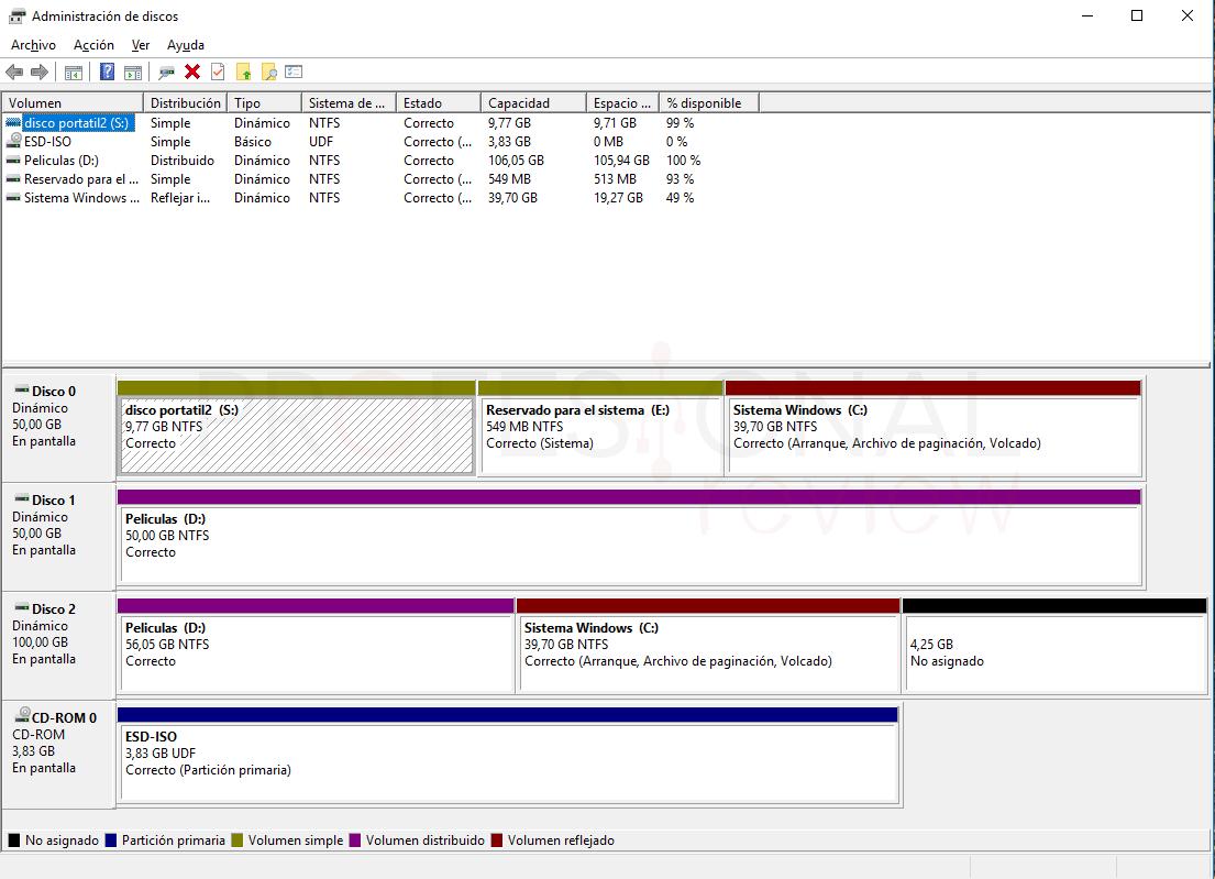Disco dinámico Windows
