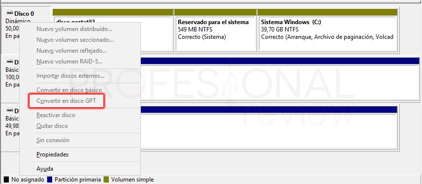Convertir disco duro en GPT paso 02