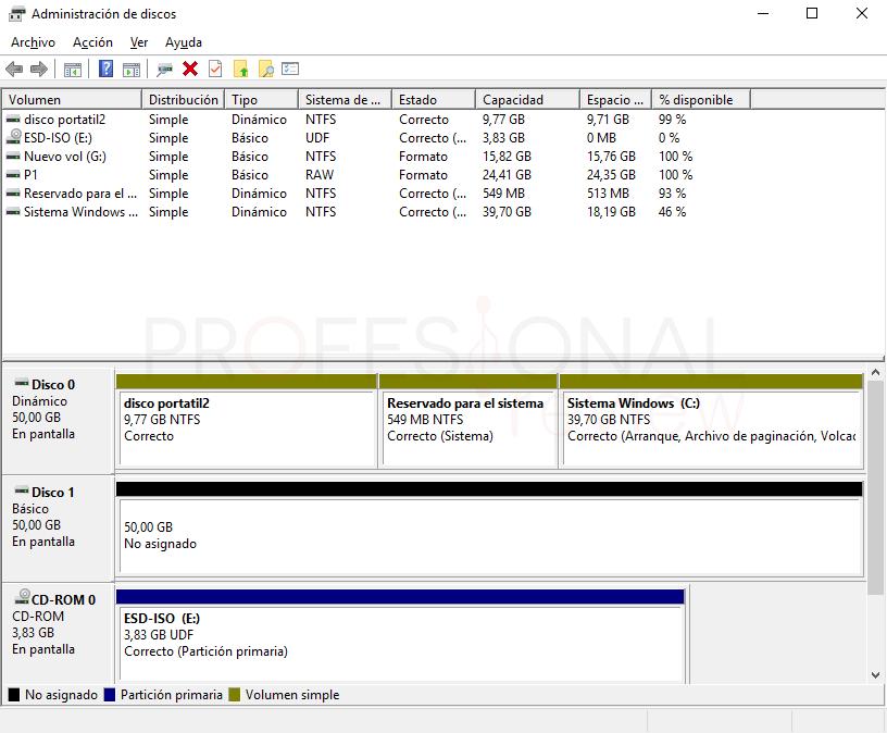Eliminar particiones en Windows 10 paso 06
