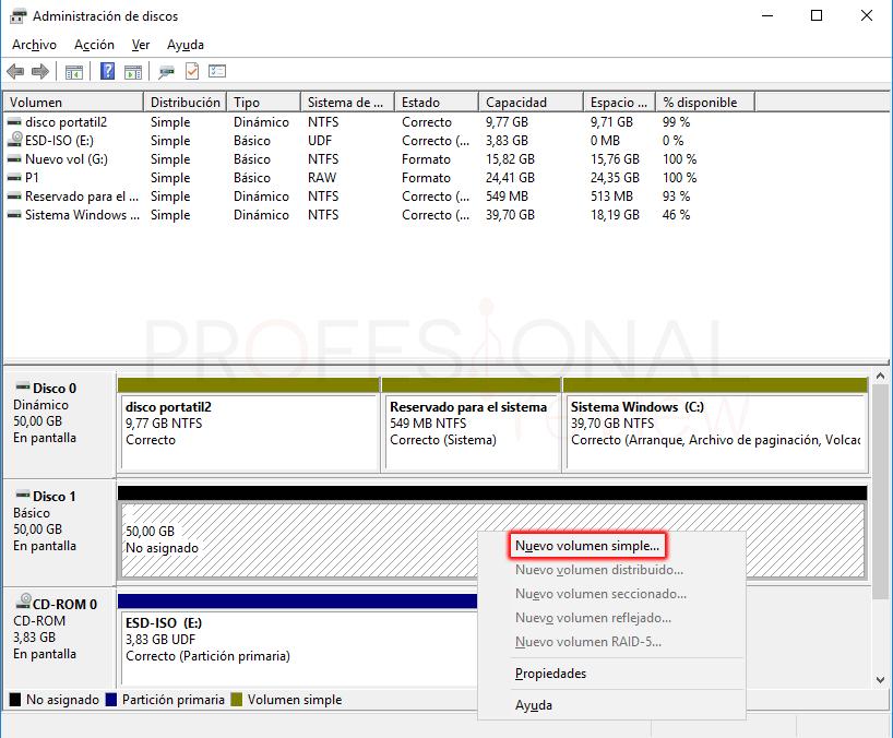 Eliminar particiones en Windows 10 paso 07