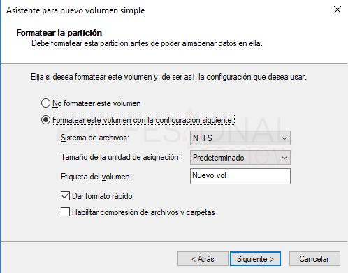Eliminar particiones en Windows 10 paso 10