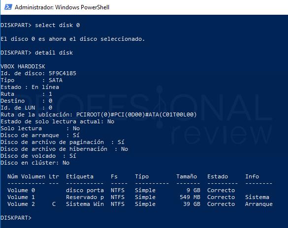 Eliminar particiones en Windows 10 paso 13